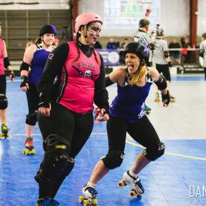 Woah Nellie! and Nasty Nikki Nightstick pre-bout warm up